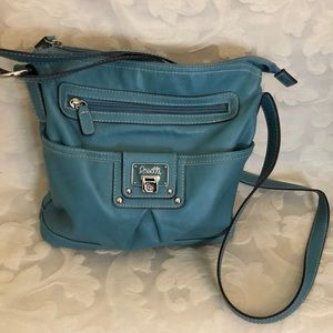 Light teal shoulder/crossbody by Rossetti
